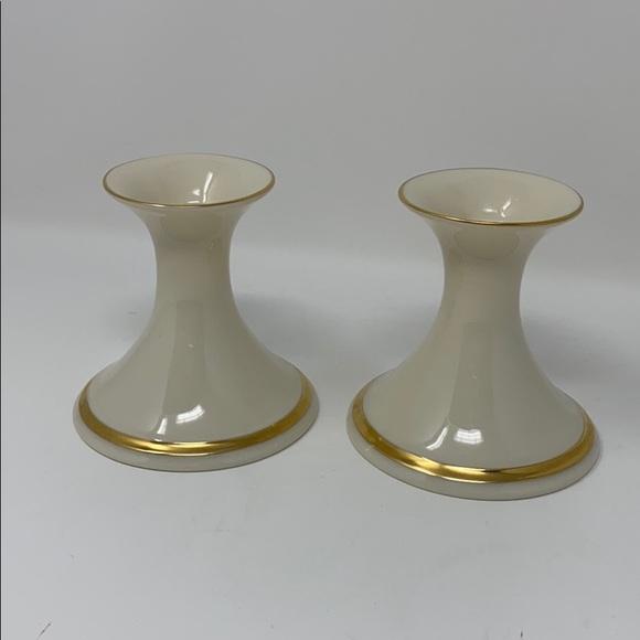Lenox Other - Lenox Candlesticks Vintage Gold Trim Made in USA!